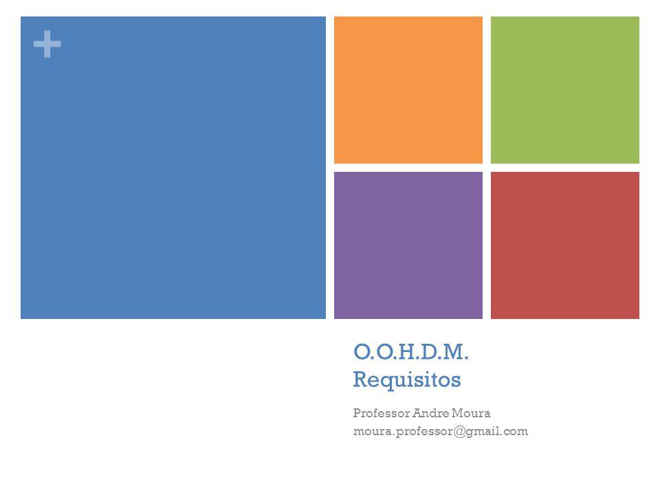 + O.O.H.D.M. Requisitos Professor Andre Moura moura.professor@gmail.com