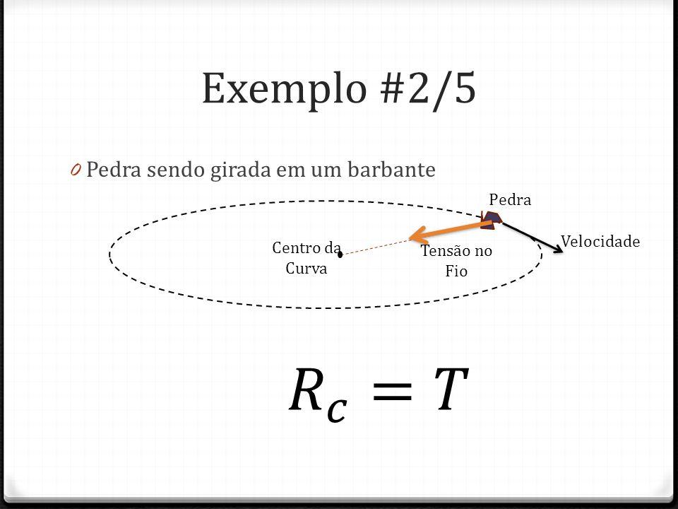 Exemplo #3/5 0 Carro no topo do morro 0 P>N Centro da Curva velocidade Peso Força Normal