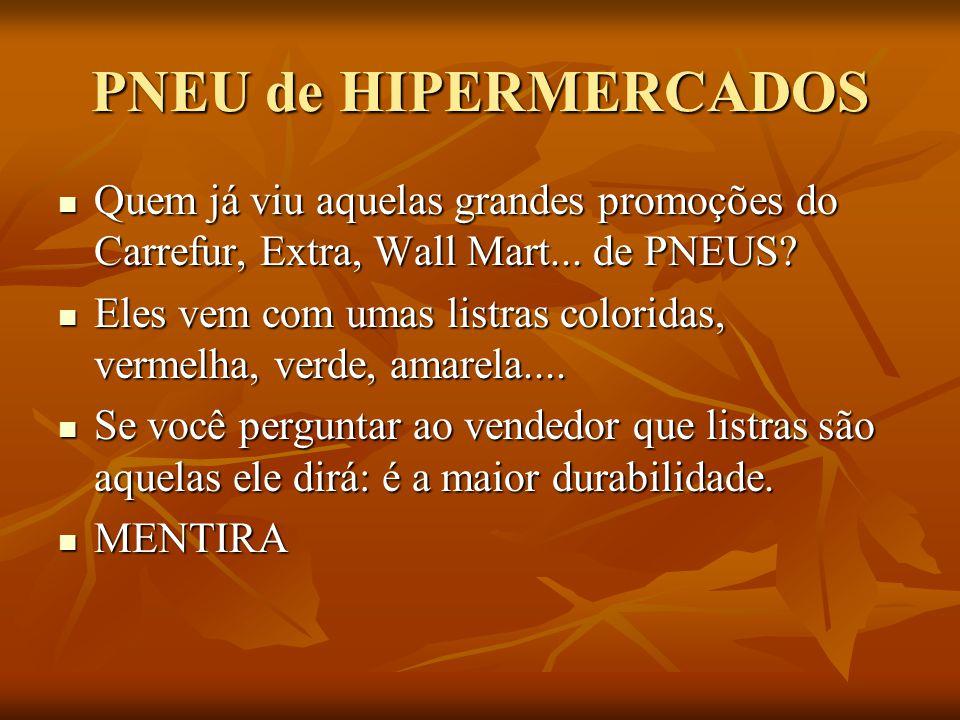 PNEU de HIPERMERCADOS  Quem já viu aquelas grandes promoções do Carrefur, Extra, Wall Mart...