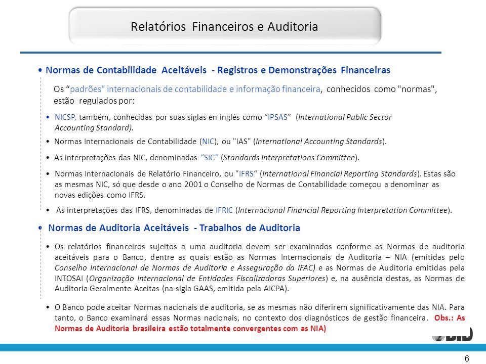 """6 • Normas de Contabilidade Aceitáveis - Registros e Demonstrações Financeiras Relatórios Financeiros e Auditoria Os """"padrões"""