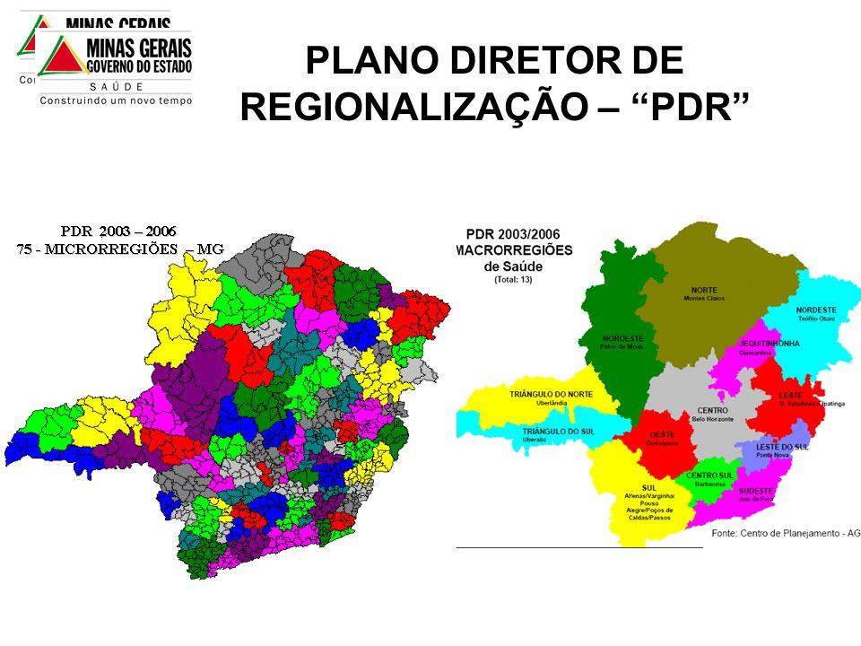 """PLANO DIRETOR DE REGIONALIZAÇÃO – """"PDR"""""""