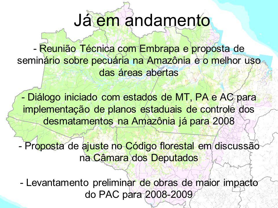 Já em andamento - Reunião Técnica com Embrapa e proposta de seminário sobre pecuária na Amazônia e o melhor uso das áreas abertas - Diálogo iniciado c