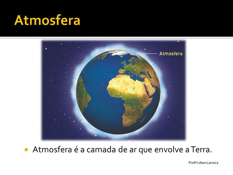  Atmosfera é a camada de ar que envolve a Terra. Prof ª Lilian Larroca