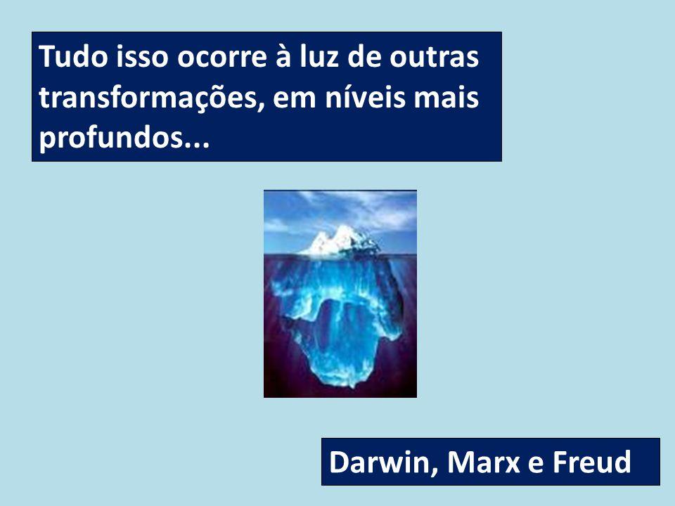 Tudo isso ocorre à luz de outras transformações, em níveis mais profundos... Darwin, Marx e Freud