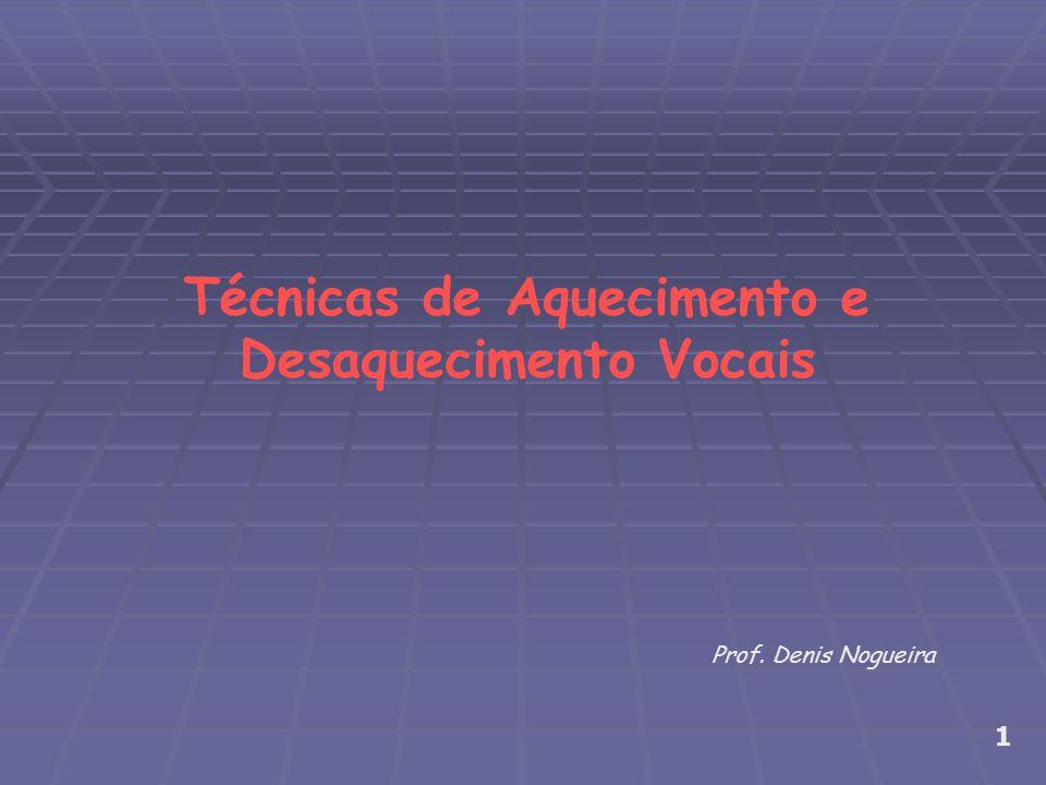 Técnicas de Aquecimento e Desaquecimento Vocais Prof. Denis Nogueira 1
