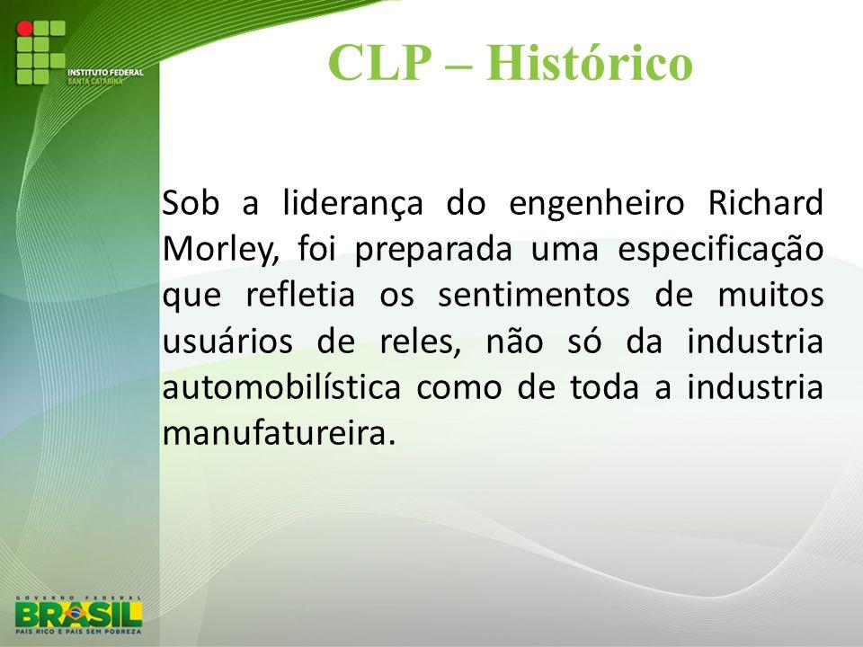 CLP – Histórico Sob a liderança do engenheiro Richard Morley, foi preparada uma especificação que refletia os sentimentos de muitos usuários de reles,