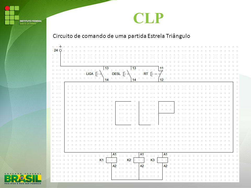 CLP Circuito de comando de uma partida Estrela Triângulo