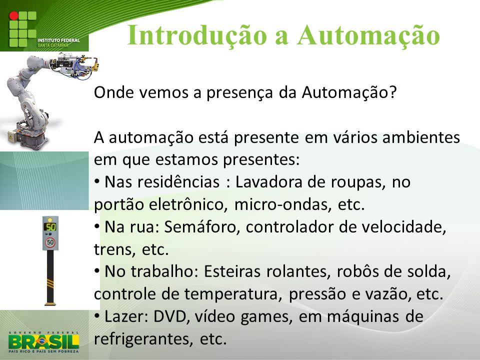 Introdução a Automação Onde vemos a presença da Automação? A automação está presente em vários ambientes em que estamos presentes: • Nas residências :