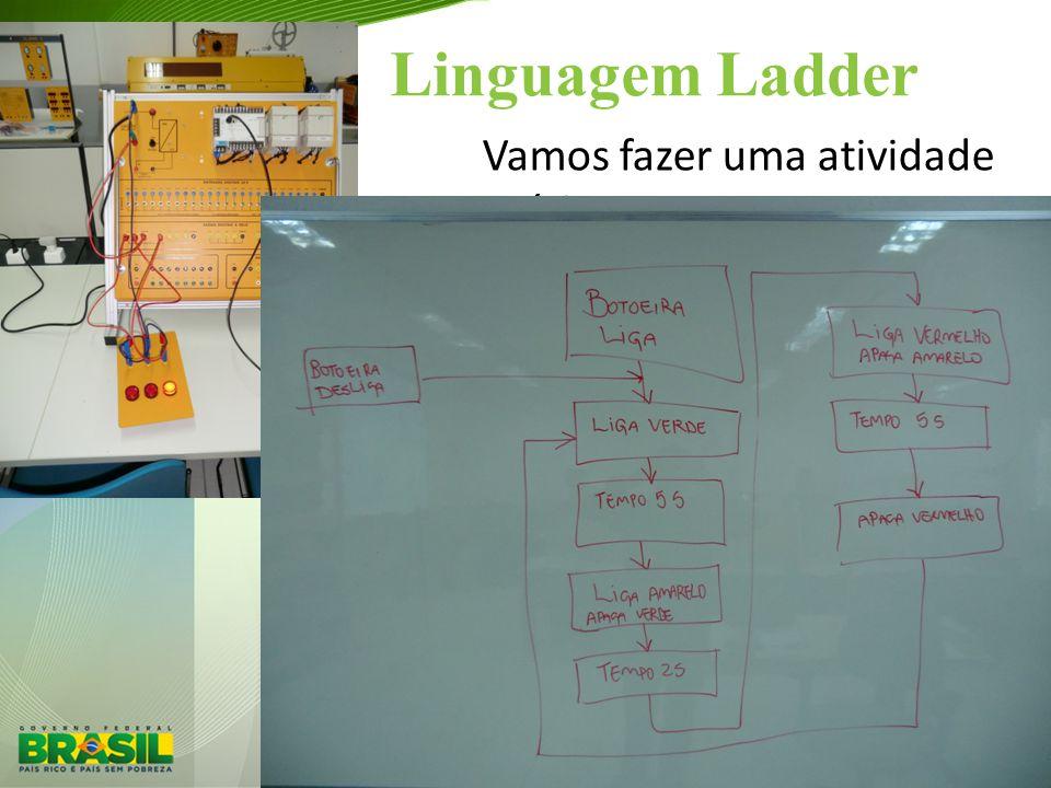 Linguagem Ladder Vamos fazer uma atividade prática