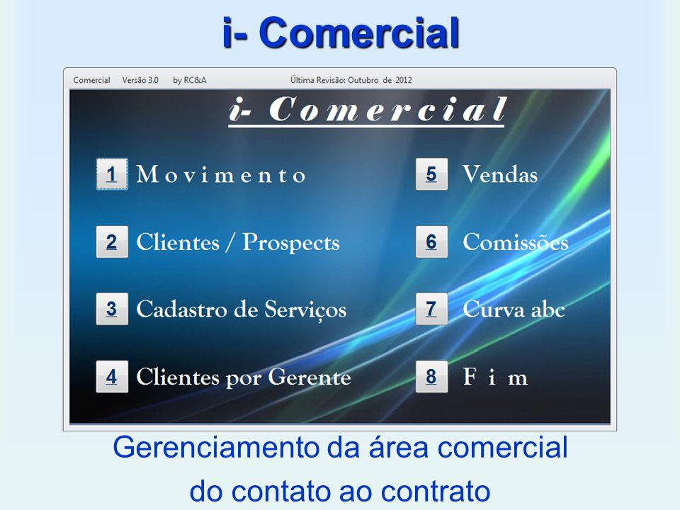 i- Comercial Gerenciamento da área comercial do contato ao contrato