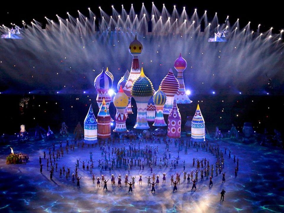  A cerimônia de encerramento dos Jogos de Inverno, ganhou uma versão bem-humorada da falha que aconteceu com o símbolo olímpico na abertura.  Na oca