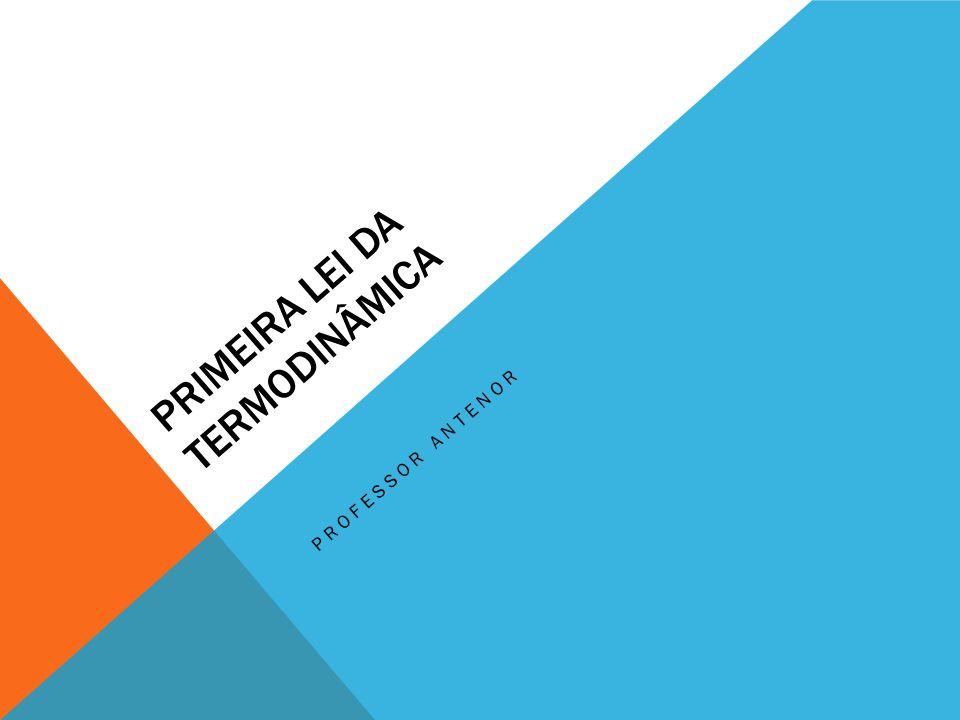 PRIMEIRA LEI DA TERMODINÂMICA PROFESSOR ANTENOR