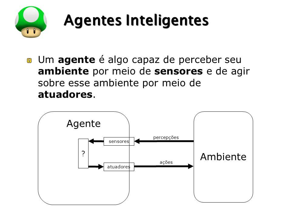 LOGO Agentes Inteligentes Um agente é algo capaz de perceber seu ambiente por meio de sensores e de agir sobre esse ambiente por meio de atuadores. Ag
