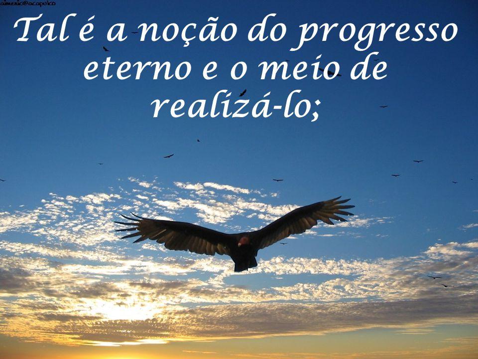 Tal é a noção do progresso eterno e o meio de realizá-lo;