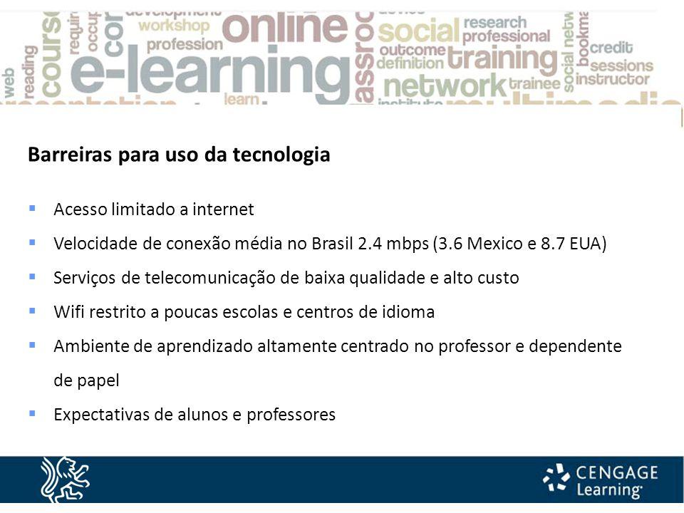  Quadros interativos em todas as salas  Multi media centres  Política de uso de equipamento eletrônico:  BYOD A Cultura Inglesa e a Tecnologia