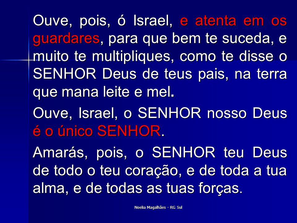 Ouve, pois, ó Israel, e atenta em os guardares, para que bem te suceda, e muito te multipliques, como te disse o SENHOR Deus de teus pais, na terra qu
