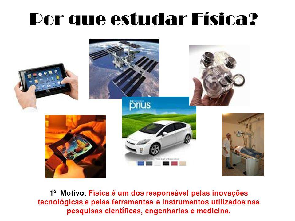 1º Motivo: Física é um dos responsável pelas inovações tecnológicas e pelas ferramentas e instrumentos utilizados nas pesquisas científicas, engenharias e medicina.