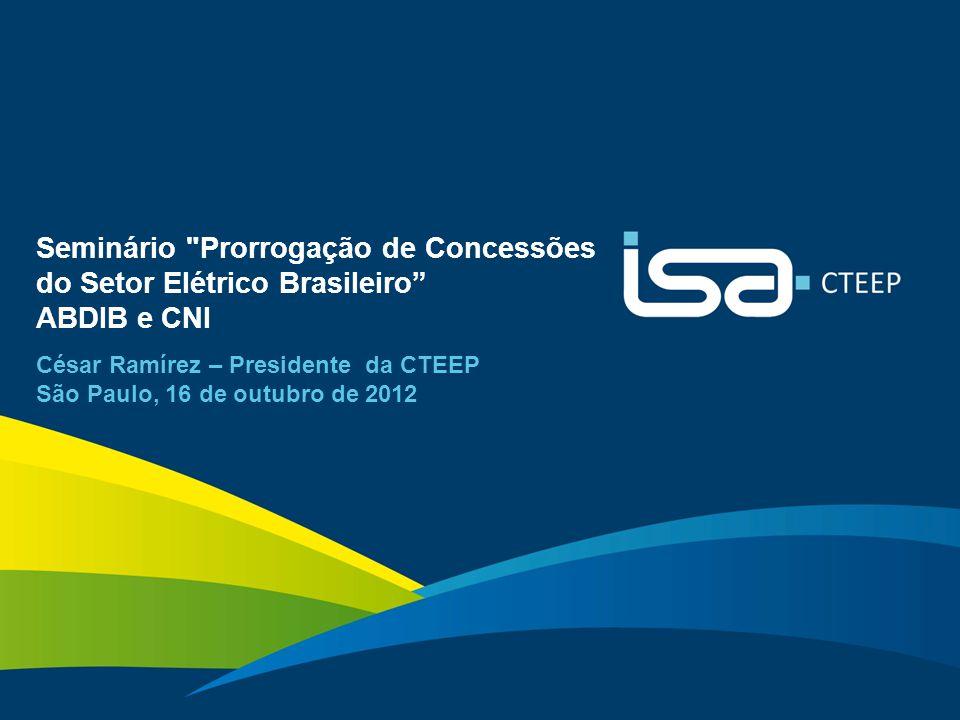 SEMINÁRIO PRORROGAÇÃO DE CONCESSÕES DO SETOR ELÉTRICO BRASILEIRO Seminário