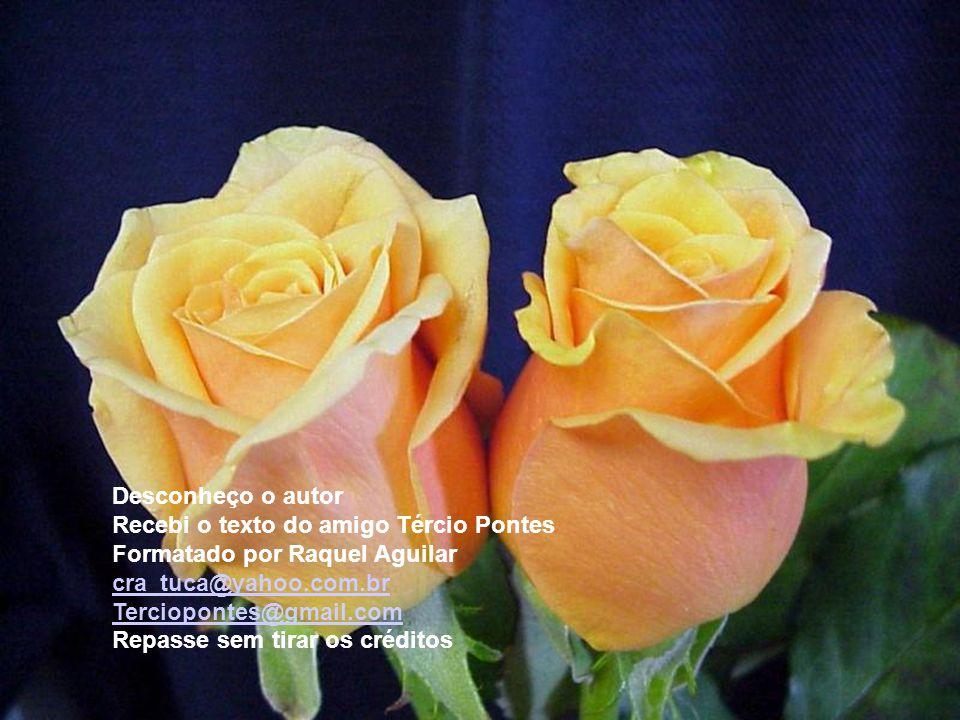 Desconheço o autor Recebi o texto do amigo Tércio Pontes Formatado por Raquel Aguilar cra_tuca@yahoo.com.br Terciopontes@gmail.com Repasse sem tirar os créditos