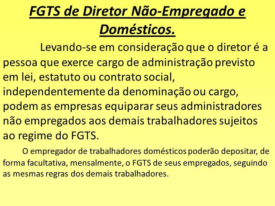 Outras Obrigações de Depósito do FGTS: •prestação de serviço militar; •licença para tratamento de saúde até 15 (quinze) dias; •licença por acidente de