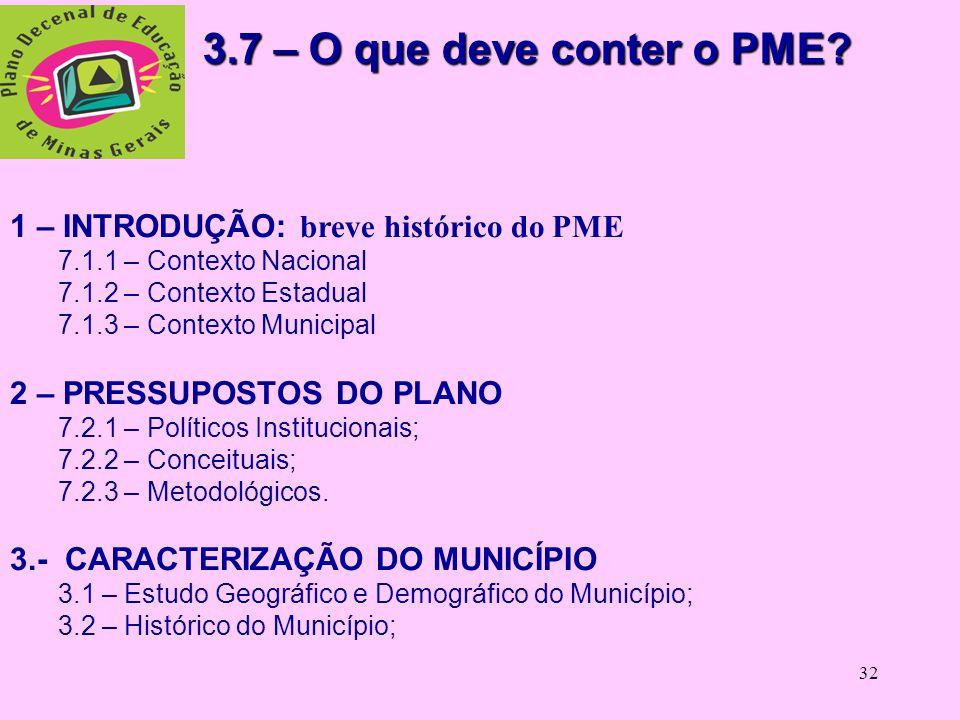 31 3.6.1 Liderança: 3.6.1 Liderança: Secretaria Municipal de Educação com o apoio do Conselho Municipal de Educação e da Superintendência Regional de