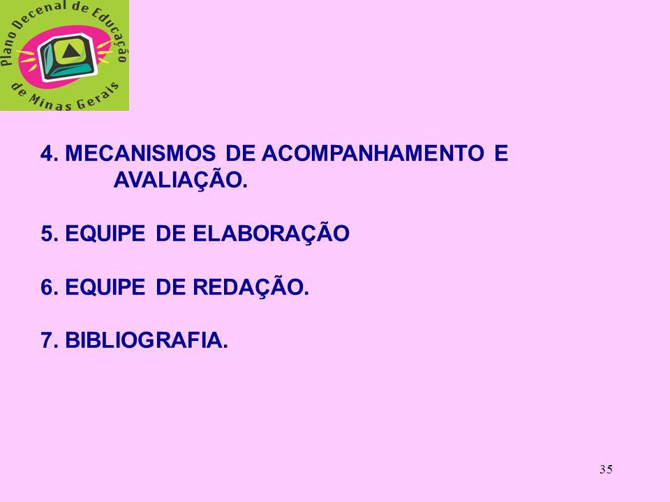 34 6) Educação Indígena (em regiões com reservas Indígenas) 7) Formação dos Profissionais e Valorização do Magistério; 8) Financiamento e Gestão.  Al