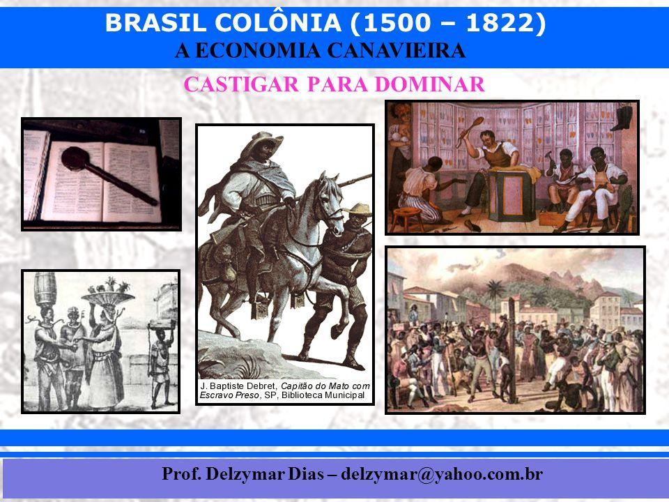 BRASIL COLÔNIA (1500 – 1822) Prof. Iair iair@pop.com.br A ECONOMIA CANAVIEIRA CASTIGAR PARA DOMINAR Prof. Delzymar Dias – delzymar@yahoo.com.br