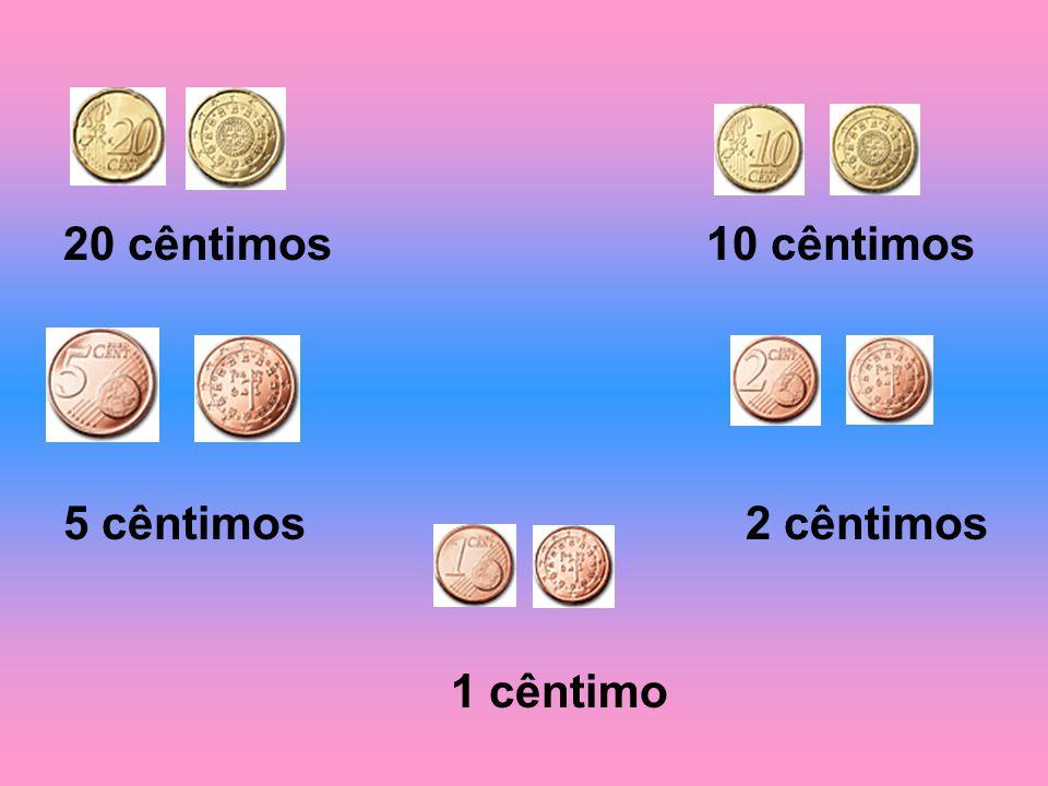 Moedas 2 euros 1 euro 50 cêntimos