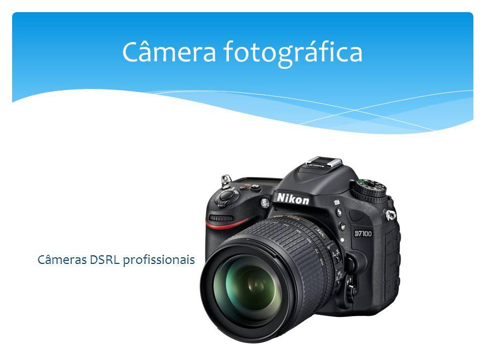  Visor – permite que o fotógrafo enquadre o objeto a ser fotografado antes que a foto seja feita  Mecanismo de foco – move a lente para mais perto ou para mais longe do sensor que registrará a imagem Câmera fotográfica