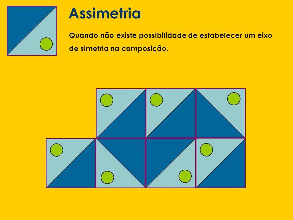 Assimetria Quando não existe possibilidade de estabelecer um eixo de simetria na composição.