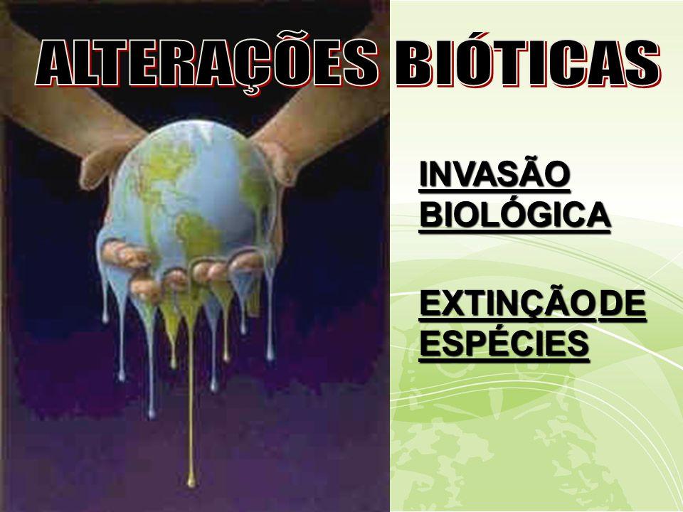 INVASÃO BIOLÓGICA EXTINÇÃODE ESPÉCIES EXTINÇÃO DE ESPÉCIES