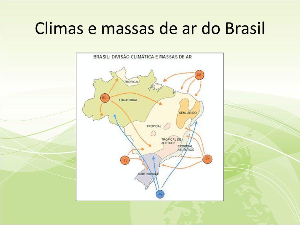Climas e massas de ar do Brasil