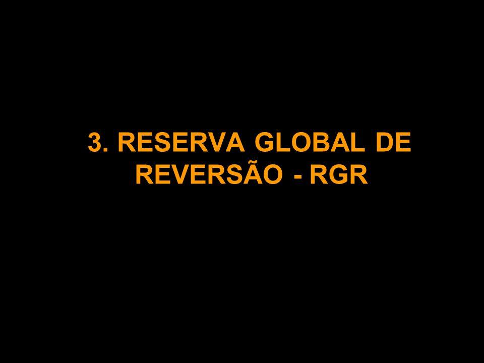 3. RESERVA GLOBAL DE REVERSÃO - RGR