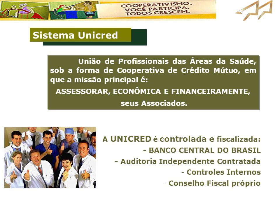 União de Profissionais das Áreas da Saúde, sob a forma de Cooperativa de Crédito Mútuo, em que a missão principal é: ASSESSORAR, ECONÔMICA E FINANCEIR