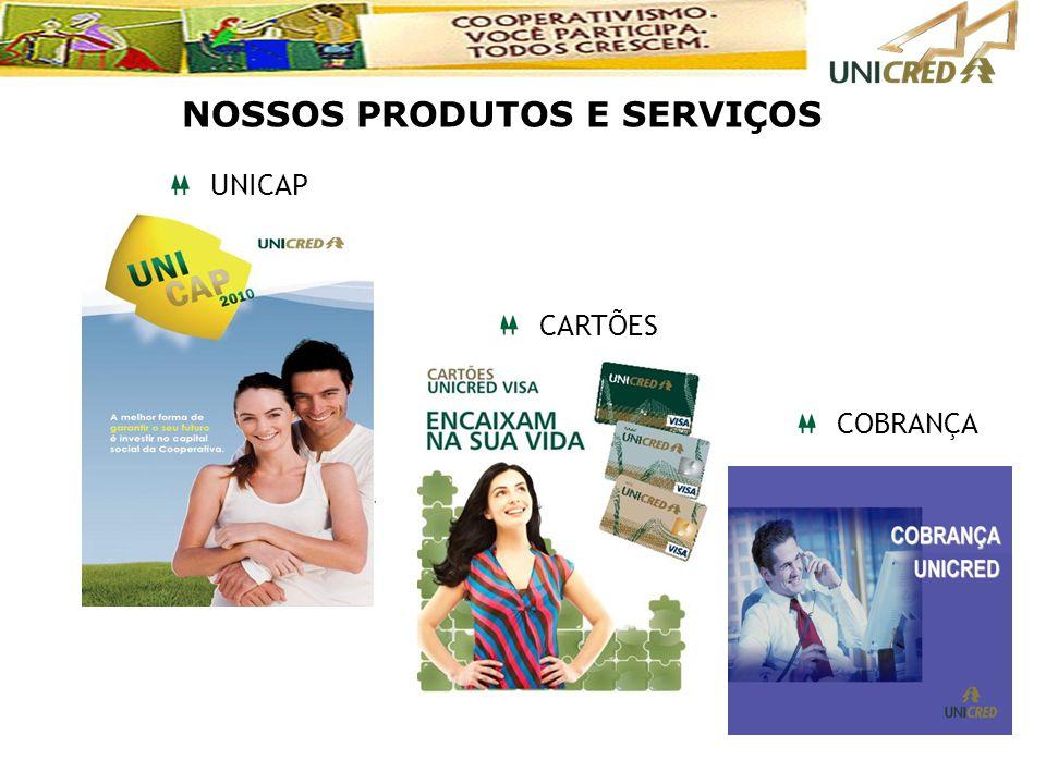 UNICAP CARTÕES COBRANÇA NOSSOS PRODUTOS E SERVIÇOS