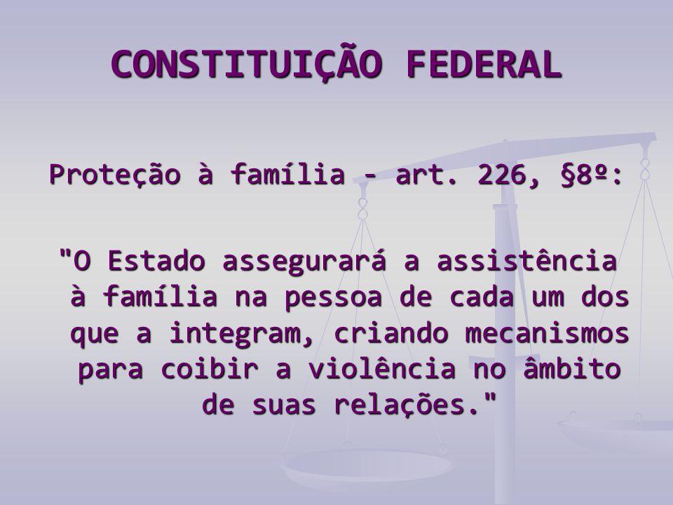 CONSTITUIÇÃO FEDERAL Proteção à família - art. 226, §8º: