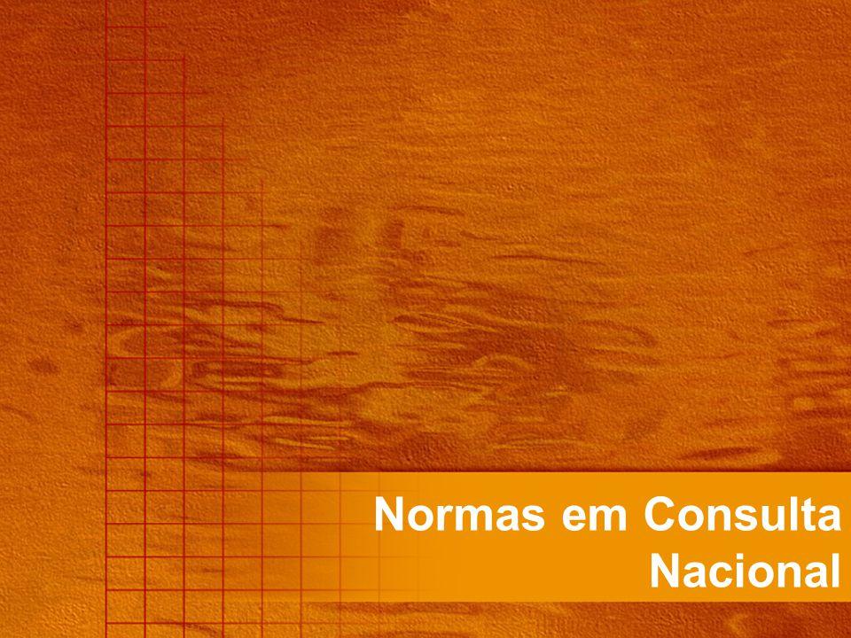 NBR 9441:98 - Execução de sistemas de detecção e alarme de incêndio NBR 10897:90 - Proteção contra incêndio por chuveiro automático NBR 11742 e NBR 13768:97 – Porta corta-fogo para saída de emergência – Especificação NBR 12693:93 - Sistemas de proteção por extintores de incêndio NBR 12779:04 – Mangueiras de incêndio – Inspeção, manutenção e cuidados NBR 12962:94 e NBR 13485:97 - Extintores de incêndio – Inspeção, manutenção, recarga e ensaio hidrostático NBR 13714:04 - Sistemas de hidrantes e de mangotinhos para combate a incêndio 2º Projeto de revisão NBR 14608:00 – Bombeiro profissional civil