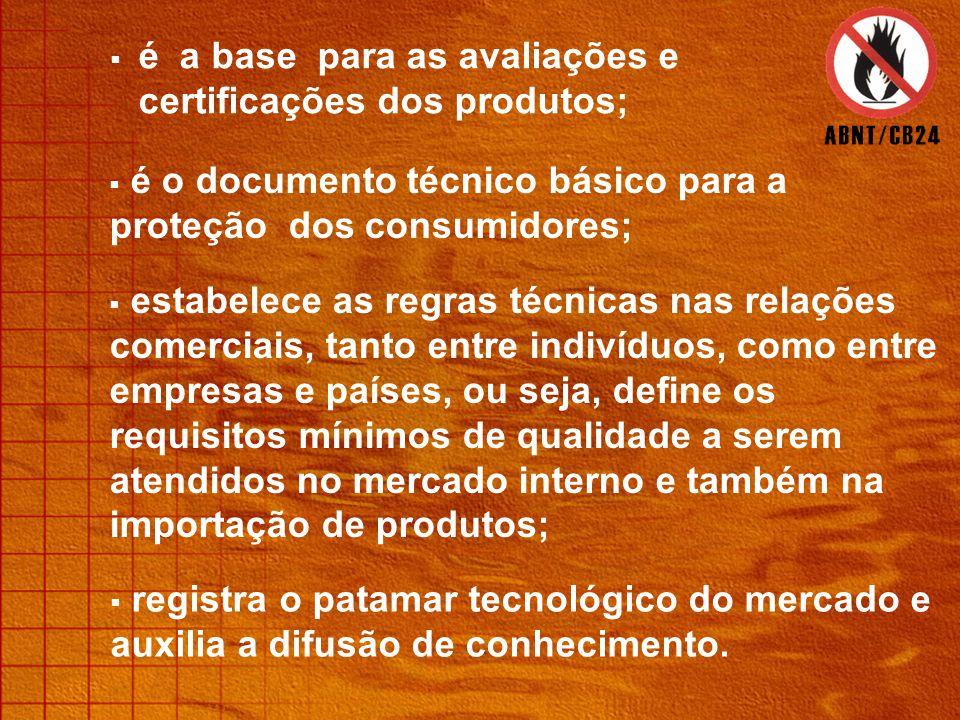  é a base para as avaliações e certificações dos produtos;  é o documento técnico básico para a proteção dos consumidores;  estabelece as regras técnicas nas relações comerciais, tanto entre indivíduos, como entre empresas e países, ou seja, define os requisitos mínimos de qualidade a serem atendidos no mercado interno e também na importação de produtos;  registra o patamar tecnológico do mercado e auxilia a difusão de conhecimento.