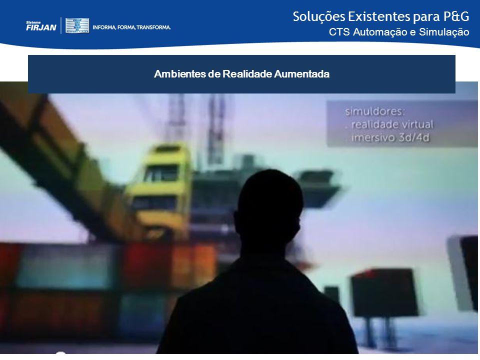 Soluções Existentes para P&G CTS Automação e Simulação Ambientes de Realidade Aumentada