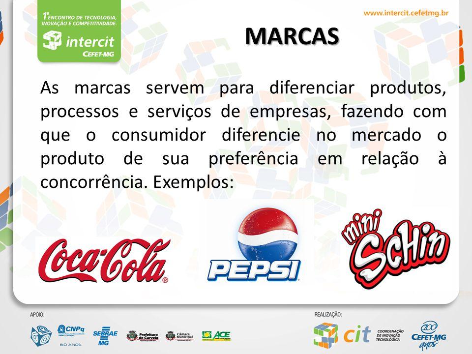 MARCAS As marcas agregam valor e individualizam os produtos de uma empresa.