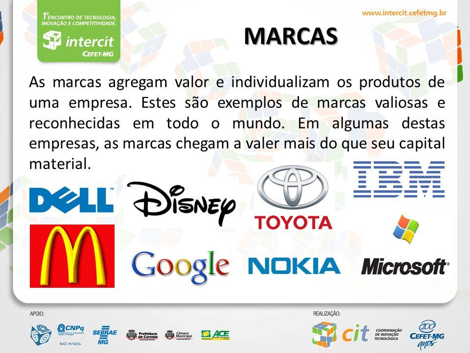 MARCAS Marcas brasileiras, cada vez mais consolidadas no mercado e que fazem parte do nosso dia a dia: