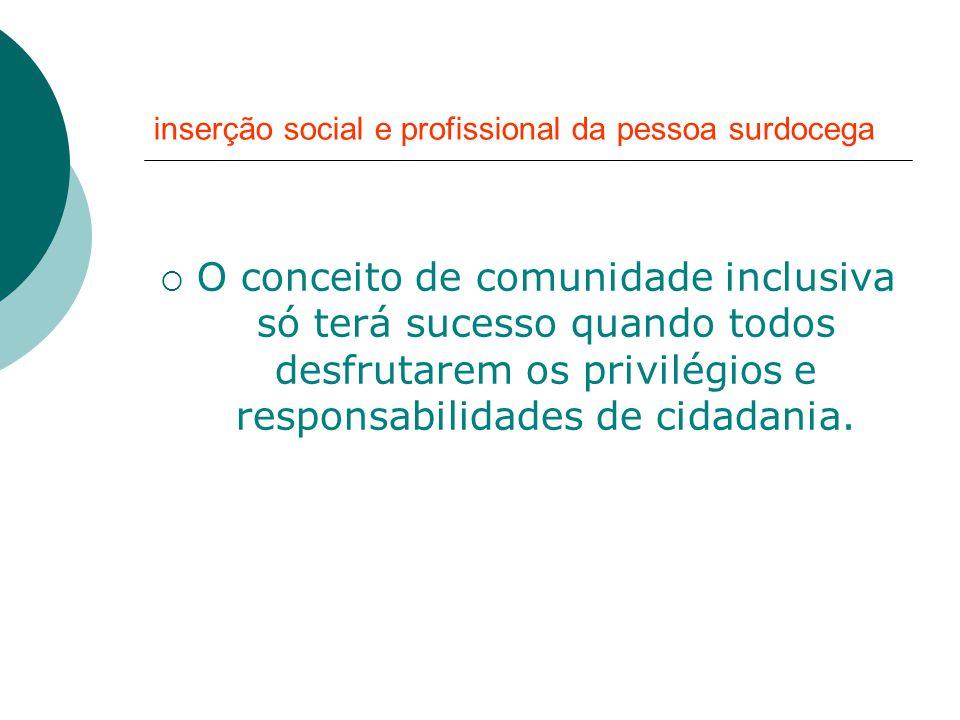 inserção social e profissional da pessoa surdocega ...