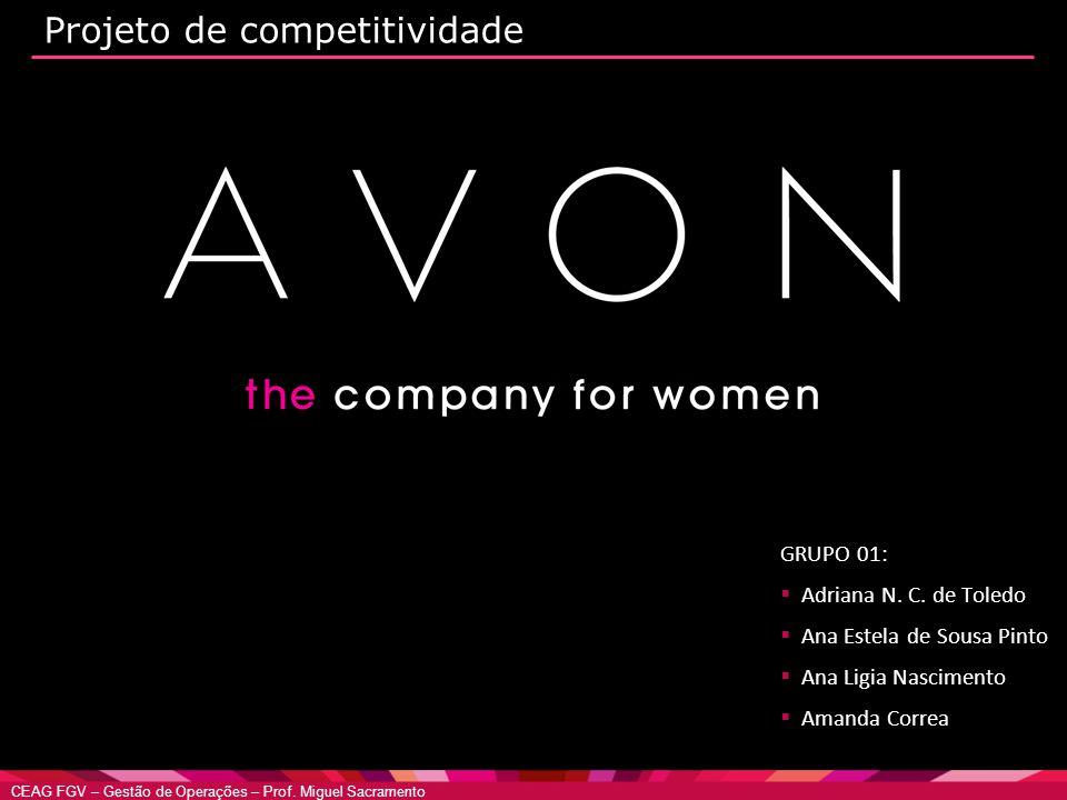 CEAG FGV – Gestão de Operações – Prof. Miguel Sacramento Projeto de competitividade GRUPO 01:  Adriana N. C. de Toledo  Ana Estela de Sousa Pinto 