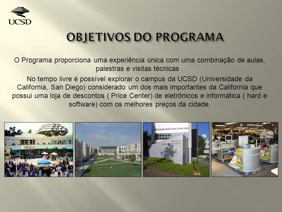 O Programa proporciona uma experiência única com uma combinação de aulas, palestras e visitas técnicas.