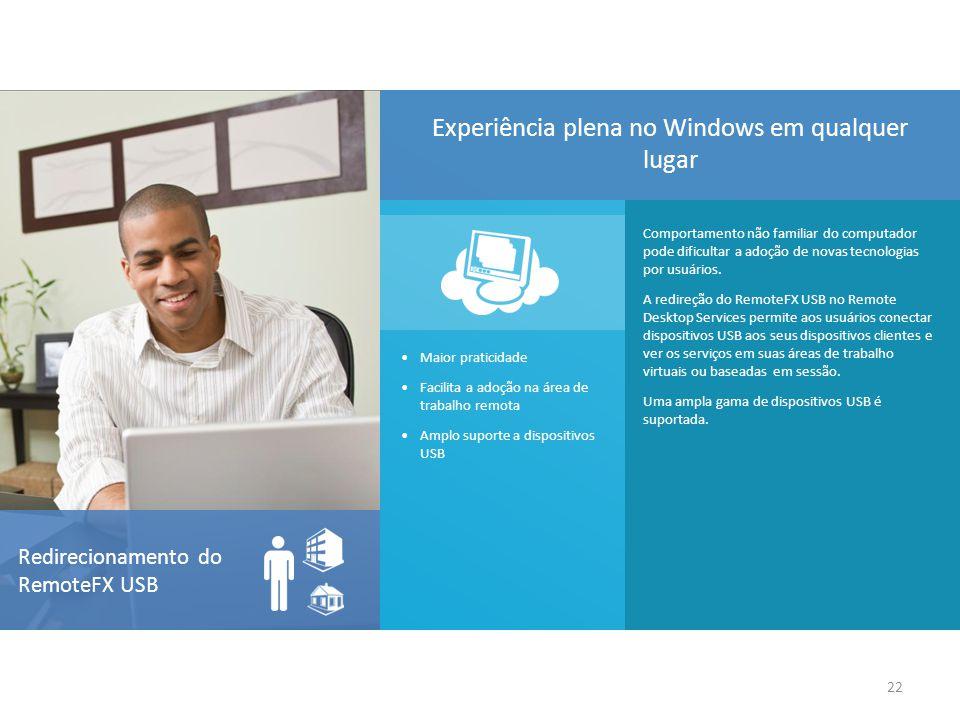 Comportamento não familiar do computador pode dificultar a adoção de novas tecnologias por usuários. A redireção do RemoteFX USB no Remote Desktop Ser