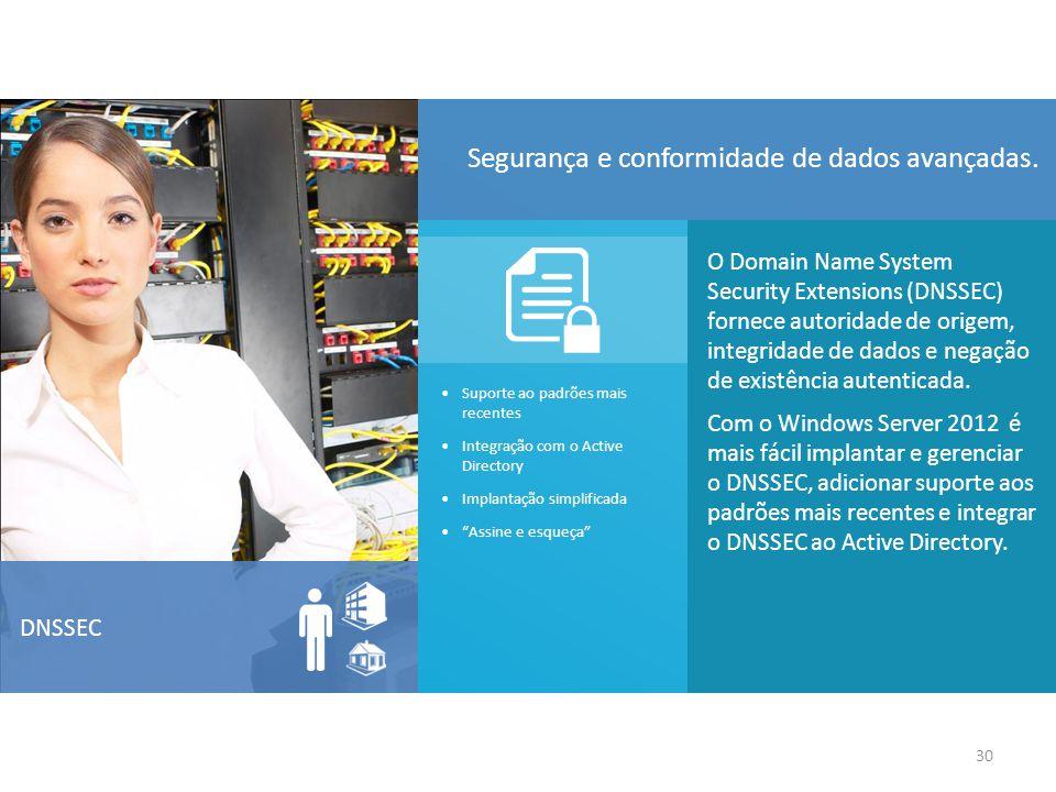 O Domain Name System Security Extensions (DNSSEC) fornece autoridade de origem, integridade de dados e negação de existência autenticada.