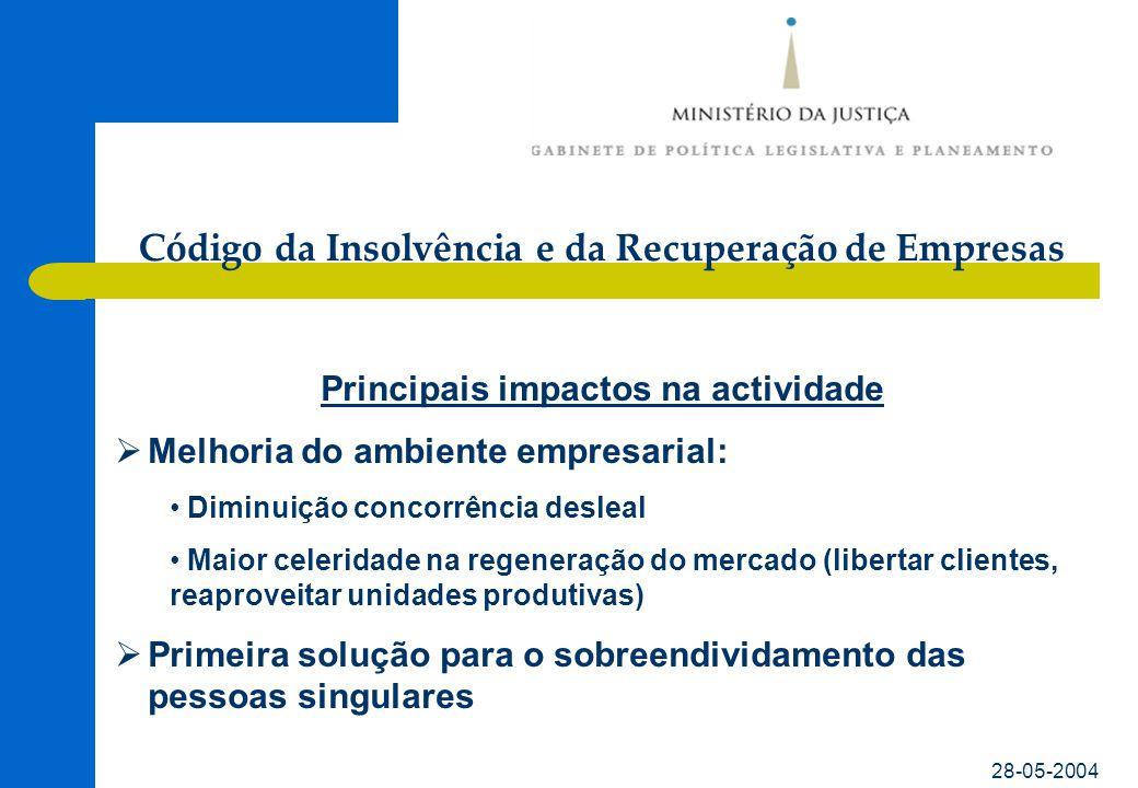 Código da Insolvência e da Recuperação de Empresas 28-05-2004 Outras informações