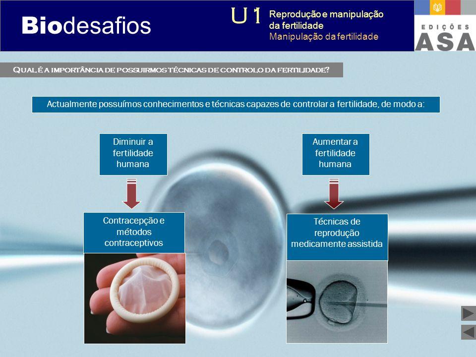 Biodesafios 12 Qual é a importância de possuirmos técnicas de controlo da fertilidade? Actualmente possuímos conhecimentos e técnicas capazes de contr