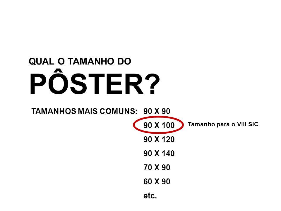 QUAL O TAMANHO DO PÔSTER.