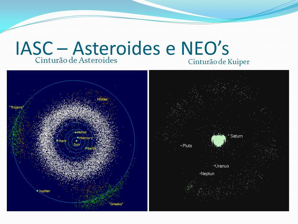 IASC – Asteroides e NEO's Cinturão de Asteroides Cinturão de Kuiper